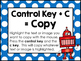 Computer Keyboard Short-Cut Posters and Interactive Notebook Pages