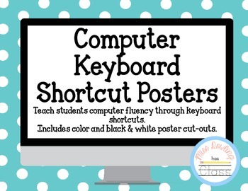 Chromebook Keyboard Shortcut Posters with Pictures