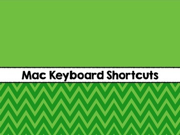 Computer Keyboard Shortcuts (Mac)