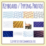 Computer Keyboard / Technology Photos / Photograph Clip Art Set Commercial Use