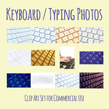 Computer Keyboard / Technology Photos / Photograph Clip Art Set Commercial Use