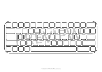 Computer Keyboard Template