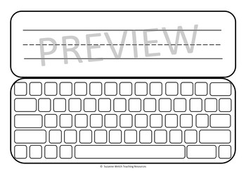 Computer Keyboard Templates – 'Write, Type and Wipe'