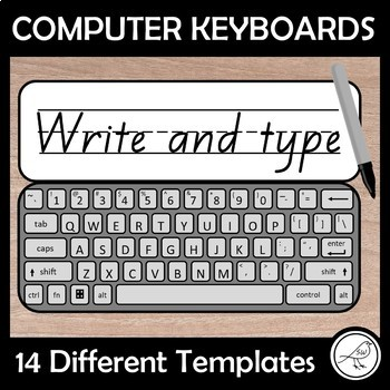 image about Keyboard Template Printable referred to as Pc Keyboard Template Worksheets Coaching Products TpT