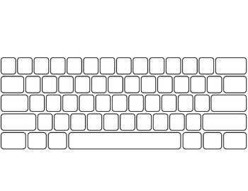 blank keyboard template printable computer keyboard and keypad blank by ginger 39 s dollar