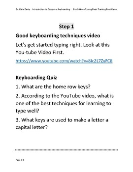 Computer Keyboarding 2-Week Summer Camp for Hunt & Peckers and Beginners