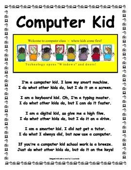Computer Kid Poem