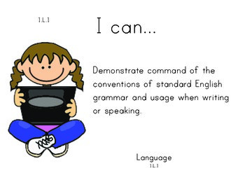 Computer Kids 1st grade English Common core standards posters