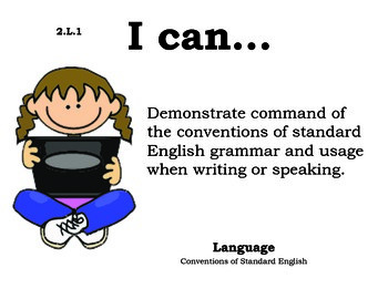 Computer Kids 2nd grade English Common core standards posters