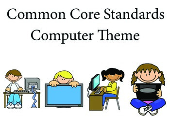 Computer Kids Kindergarten English Common core standards posters