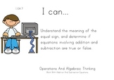Computer Kids Theme 1st grade math Common Core Posters first Grade Standards