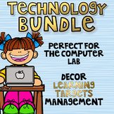 Computer Lab Bundle - I Can Statements and Decor
