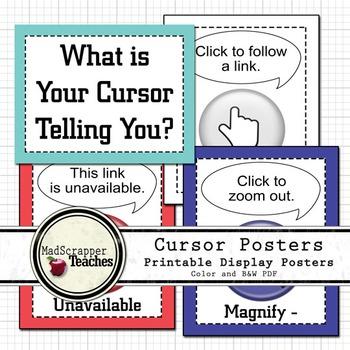 Computer Lab Cursor Posters