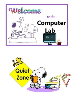 Computer Lab & Library DOOR SIGNS
