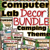 Computer Lab Decor BUNDLE - Camping Theme