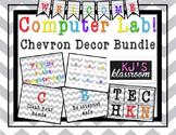 Computer Lab Decor Bundle - Chevron