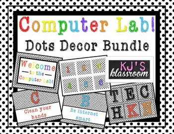 Computer Lab Decor Bundle - Polka Dots