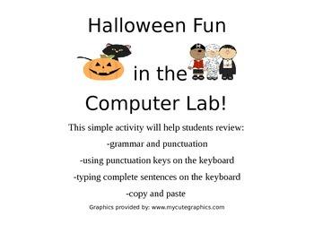 Computer Lab Halloween Practice