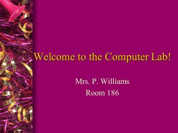 Computer Lab Introduction K-2