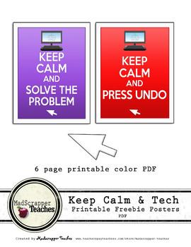 Computer Lab Keep Calm Posters Printable Freebie