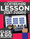 Computer Lab Lesson Plans | Math and Reading | Kindergarten