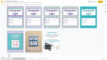 Computer Lab Login Info Printables