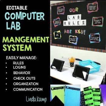 Computer Lab Management System BUNDLE Editable Forms Classroom Decor Posters