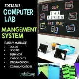 Computer Lab Rules, Posters, Editable Forms, Classroom Dec