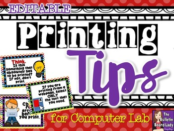 Computer Lab - Printing Tips