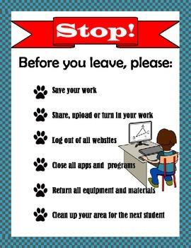 Computer Lab Procedures Reminder