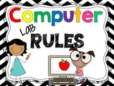 Computer Lab Rules: 16 posters for a technology lab!