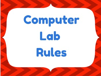 Computer Lab Rules Chevron Images