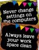 Computer Lab Rules Editable Posters & Bulletin Board Display