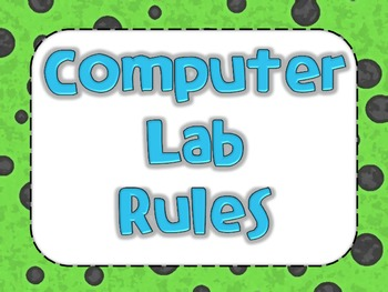 Computer Lab Rules - Elementary