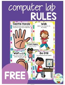 Computer Lab Rules {Freebie}