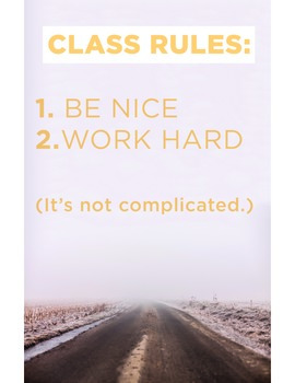 Classroom Rules (POSTER)