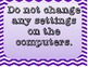 Computer Lab Rules Posters