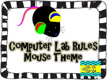 Computer Lab Rules Posters (Mouse Theme)