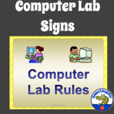 Computer Lab Rules Posters or Signs for Back to School