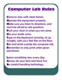 Computer Lab Rules Sign
