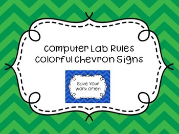 Computer Lab Rules Signs