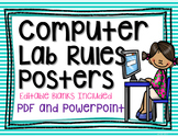 Computer Lab Rules : With Editable Pages