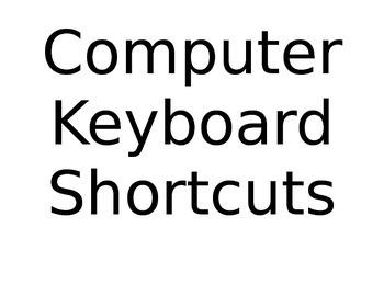 Computer Lab Shortcut Bulletin Board Posters