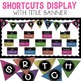Computer Shortcuts Posters & Bulletin Board Display Banner