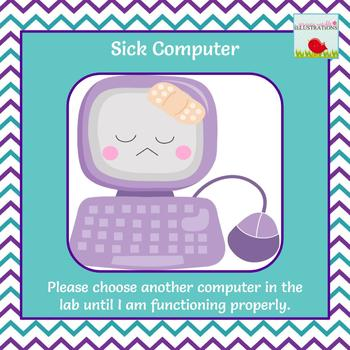Computer Lab *Sick Computer* Flyer