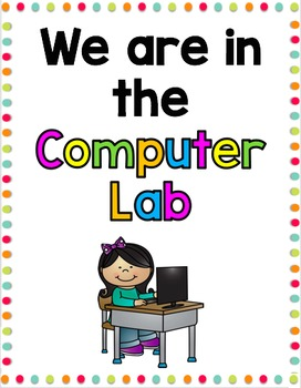 Computer Lab Sign