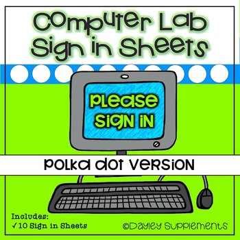 Computer Lab Sign In Sheet - 10 Bright Colors