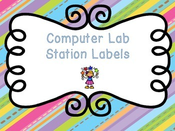 Computer Lab Station Tags