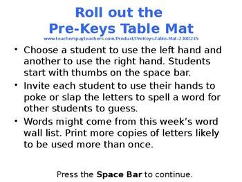 PreKeys 004 Prep Computer Lab Substitute Lesson Plan