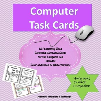 Computer Lab Task Cards